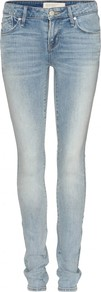 Lou Skinny Jeans - style: skinny leg; length: standard; pattern: plain; pocket detail: traditional 5 pocket; waist: mid/regular rise; predominant colour: denim; occasions: casual; fibres: cotton - mix; jeans detail: whiskering, shading down centre of thigh, washed/faded; texture group: denim; pattern type: fabric