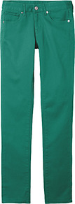 Women Colour Skinny Fit Straight Jeans B 61 Blue - style: straight leg; length: standard; pattern: plain; pocket detail: traditional 5 pocket; waist: mid/regular rise; predominant colour: emerald green; occasions: casual, holiday; fibres: cotton - stretch; jeans detail: dark wash; texture group: denim; pattern type: fabric; pattern size: standard