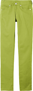 Women Colour Skinny Fit Straight Jeans B 53 Green - style: straight leg; length: standard; pattern: plain; pocket detail: traditional 5 pocket; waist: mid/regular rise; predominant colour: lime; occasions: casual, holiday; fibres: cotton - stretch; texture group: denim; trends: fluorescent; pattern type: fabric