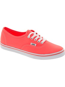 Authentic Lo Pro Coral Trainers - predominant colour: coral; occasions: casual; material: fabric; heel height: flat; toe: round toe; style: trainers; trends: sporty redux; finish: plain; pattern: plain