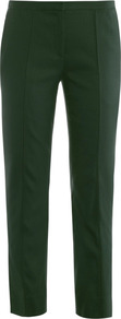 Aislin Trousers - pattern: plain; pocket detail: small back pockets, pockets at the sides; waist: mid/regular rise; predominant colour: black; occasions: evening, work; length: calf length; fibres: viscose/rayon - stretch; hip detail: fitted at hip (bottoms); waist detail: narrow waistband; fit: slim leg; pattern type: fabric; texture group: other - light to midweight; style: standard