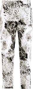 Athena Print Trousers - pocket detail: small back pockets, pockets at the sides; waist: mid/regular rise; secondary colour: mid grey; predominant colour: black; occasions: evening, work, holiday; length: calf length; fibres: silk - mix; hip detail: fitted at hip (bottoms); waist detail: narrow waistband; trends: high impact florals; fit: straight leg; pattern type: fabric; pattern size: big & busy; pattern: florals; texture group: other - light to midweight; style: standard