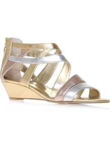 Vocals3 - occasions: casual, evening, occasion, holiday; predominant colour: multicoloured; material: leather; heel height: mid; embellishment: zips; ankle detail: ankle strap; heel: platform; toe: open toe/peeptoe; style: strappy; trends: metallics; finish: metallic; pattern: two-tone
