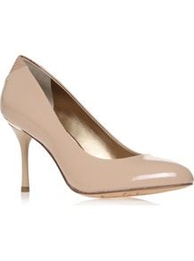 Camdyn - predominant colour: nude; occasions: evening, work, occasion; material: leather; heel height: high; heel: stiletto; toe: round toe; style: courts; finish: patent; pattern: plain