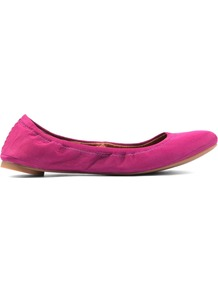 Emmie Ballerina Shoes, Purple - predominant colour: hot pink; occasions: casual, evening, work; material: leather; heel height: flat; toe: round toe; style: ballerinas / pumps; finish: plain; pattern: plain