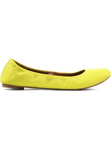 Emmie Ballerina Shoes, Yellow - predominant colour: yellow; occasions: casual, evening, work; material: faux leather; heel height: flat; toe: round toe; style: ballerinas / pumps; trends: fluorescent; finish: plain; pattern: plain