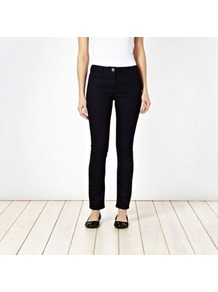 Navy Super Skinny Jeans - style: skinny leg; pattern: plain; pocket detail: traditional 5 pocket; waist: mid/regular rise; predominant colour: navy; occasions: casual; length: ankle length; fibres: cotton - stretch; jeans detail: dark wash; texture group: denim; pattern type: fabric