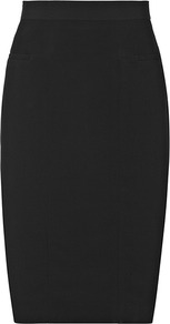 Hicks Seamed Pencil Skirt - pattern: plain; style: pencil; fit: tailored/fitted; waist: mid/regular rise; predominant colour: black; occasions: evening, work, occasion; length: just above the knee; fibres: viscose/rayon - 100%; pattern type: fabric; texture group: other - light to midweight