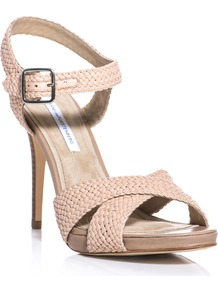Vivi Sandals - predominant colour: blush; occasions: casual, evening, holiday; material: leather; heel height: high; embellishment: buckles; ankle detail: ankle strap; heel: stiletto; toe: open toe/peeptoe; style: strappy; finish: plain; pattern: plain