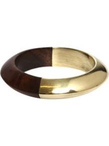 Comba Bracelet - predominant colour: chocolate brown; occasions: casual, evening, work, occasion, holiday; style: bangle; size: standard; material: chain/metal; finish: metallic
