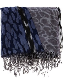 Disco Animal - predominant colour: navy; occasions: casual; type of pattern: standard; style: regular; size: large; material: fabric; embellishment: fringing, tassels; pattern: animal print, patterned/print; trends: statement prints