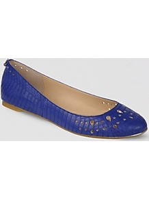 Ballet Flats Leighton - predominant colour: royal blue; occasions: casual, work; material: leather; heel height: flat; toe: round toe; style: ballerinas / pumps; finish: plain; pattern: animal print, patterned/print