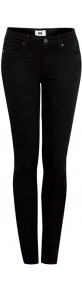Hoxton High Rise Skinny Jeans - style: skinny leg; length: standard; pattern: plain; pocket detail: traditional 5 pocket; waist: mid/regular rise; predominant colour: black; occasions: casual, evening; fibres: cotton - mix; jeans detail: dark wash; texture group: denim; pattern type: fabric