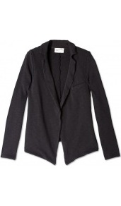 Pattison Jacket - pattern: plain; style: single breasted blazer; collar: standard lapel/rever collar; predominant colour: black; occasions: casual, evening, work; length: standard; fit: tailored/fitted; fibres: cotton - 100%; sleeve length: long sleeve; sleeve style: standard; collar break: low/open; pattern type: fabric; texture group: other - light to midweight