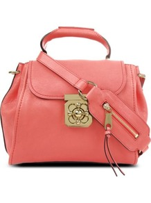 Elsie Small Leather Shoulder Bag - predominant colour: pink; occasions: casual, work; style: shoulder; length: shoulder (tucks under arm); size: small; material: leather; embellishment: zips; pattern: plain; finish: plain