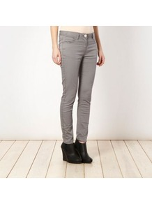 Light Grey Super Skinny Jeans - style: skinny leg; length: standard; pattern: plain; pocket detail: traditional 5 pocket; waist: mid/regular rise; predominant colour: mid grey; occasions: casual; fibres: cotton - mix; texture group: denim; pattern type: fabric