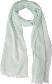 Pale Green Scarf - predominant colour: pistachio; occasions: casual, evening, work, holiday; style: regular; size: standard; material: fabric; embellishment: fringing; pattern: plain