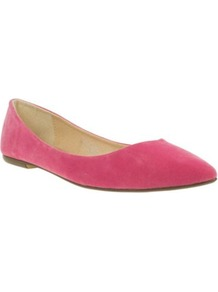 Pink Pointy Toe Basic Ballerinas - predominant colour: hot pink; occasions: casual, work; material: faux leather; heel height: flat; toe: pointed toe; style: ballerinas / pumps; finish: plain; pattern: plain