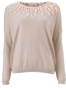 Dixie Jumper - neckline: round neck; pattern: plain; bust detail: added detail/embellishment at bust; style: standard; predominant colour: champagne; occasions: casual, evening, work; length: standard; fibres: cotton - mix; fit: loose; shoulder detail: added shoulder detail; sleeve length: long sleeve; sleeve style: standard; texture group: knits/crochet; pattern type: knitted - fine stitch; pattern size: small & light