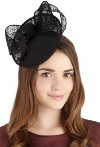 Lace Mini Disc Bow Headband - predominant colour: black; occasions: evening, occasion; type of pattern: light; style: fascinator; size: standard; material: macrame/raffia/straw; embellishment: bow; pattern: plain, patterned/print; trends: sculptural frills