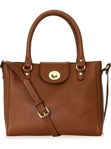Burlington Bag - predominant colour: tan; occasions: casual, evening, work; type of pattern: standard; style: tote; length: handle; size: standard; material: leather; embellishment: studs, buckles, chain/metal; pattern: plain; finish: plain