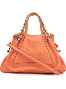Paraty Medium Shoulder Bag - predominant colour: nude; occasions: casual, work; style: shoulder; length: shoulder (tucks under arm); size: standard; material: leather; pattern: plain; finish: plain; embellishment: chain/metal