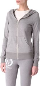 Shopping Is My Cardio Hoody - neckline: low v-neck; pattern: plain; waist detail: fitted waist, wide waistband/cummerbund; back detail: hood; style: sweat top; predominant colour: mid grey; occasions: casual; length: standard; fibres: cotton - mix; fit: body skimming; shoulder detail: flat/draping pleats/ruching/gathering at shoulder; sleeve length: long sleeve; sleeve style: standard; trends: sporty redux; pattern type: fabric; texture group: jersey - stretchy/drapey