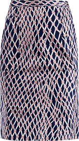 Stampa Rete Print Pencil Skirt - style: pencil; fit: tailored/fitted; waist: high rise; predominant colour: navy; occasions: casual, evening, work; length: just above the knee; fibres: polyester/polyamide - 100%; trends: statement prints; pattern type: fabric; pattern size: standard; pattern: patterned/print; texture group: other - light to midweight