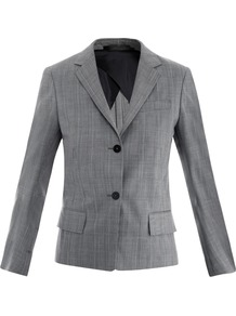 Nimoy Glen Check Jacket - pattern: checked/gingham; style: single breasted blazer; collar: standard lapel/rever collar; predominant colour: mid grey; occasions: casual, work; length: standard; fit: tailored/fitted; fibres: wool - mix; back detail: back vent/flap at back; sleeve length: long sleeve; sleeve style: standard; collar break: medium; pattern type: fabric; pattern size: standard; texture group: woven light midweight