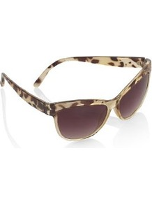 Animal Print Sunglasses - predominant colour: ivory; occasions: casual, holiday; style: square; size: standard; material: plastic/rubber; pattern: animal print; finish: plain