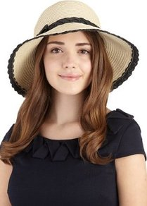 Wide Brim Plait Trim Hat - predominant colour: stone; occasions: casual, holiday; type of pattern: light; style: sunhat; size: standard; material: macrame/raffia/straw; embellishment: bow, ribbon; pattern: plain, two-tone, colourblock