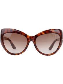 Wide Cat Eye Bardot Sunglasses - predominant colour: chocolate brown; occasions: casual, holiday; style: cateye; size: large; material: plastic/rubber; pattern: tortoiseshell; finish: plain