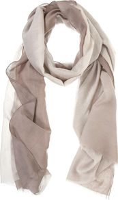Mocha Ombre Scarf, Brown - predominant colour: taupe; occasions: casual, evening, work, occasion; type of pattern: standard; style: regular; size: standard; material: fabric; pattern: two-tone