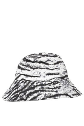 Zebra Print Floppy Sunhat - predominant colour: white; secondary colour: black; occasions: casual; type of pattern: standard; style: small brimmed; size: standard; material: fabric; pattern: animal print; season: s/s 2013