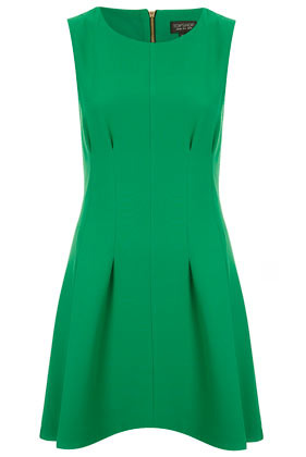 Seam Waist Shift Dress - style: shift; length: mid thigh; neckline: round neck; pattern: plain; sleeve style: sleeveless; waist detail: fitted waist; bust detail: subtle bust detail; predominant colour: emerald green; occasions: casual, evening, work, occasion; fit: fitted at waist & bust; fibres: polyester/polyamide - mix; hip detail: sculpting darts/pleats/seams at hip; sleeve length: sleeveless; trends: glamorous day shifts, volume; pattern type: fabric; pattern size: standard; texture group: jersey - stretchy/drapey; season: s/s 2013