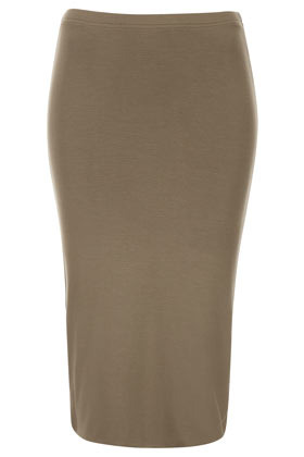 Moss Double Layer Tube Skirt - length: below the knee; pattern: plain; fit: tight; waist detail: elasticated waist; waist: high rise; predominant colour: khaki; occasions: casual, evening, work; fibres: cotton - stretch; style: tube; texture group: jersey - clingy; pattern type: fabric; season: s/s 2013; wardrobe: basic