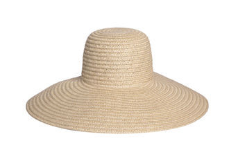 Lori Straw Sunhat - predominant colour: stone; occasions: casual, holiday; type of pattern: small; style: wide brimmed; size: large; material: macrame/raffia/straw; pattern: plain; season: s/s 2013
