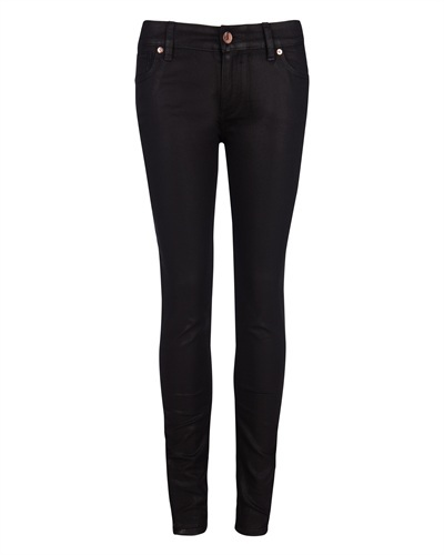 Ted Baker Esstie Skinny Jeans - style: skinny leg; length: standard; pattern: plain; pocket detail: traditional 5 pocket; waist: mid/regular rise; predominant colour: black; occasions: casual; fibres: cotton - stretch; jeans detail: dark wash; texture group: denim; pattern type: fabric; season: s/s 2013
