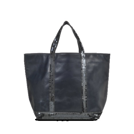 Medium Tote In Glitter Leather - predominant colour: black; occasions: casual, creative work; type of pattern: standard; style: tote; length: handle; size: oversized; material: leather; embellishment: sequins; pattern: plain; finish: metallic; season: s/s 2013