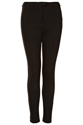 Highwaist Zip Skinny Trousers - pattern: plain; pocket detail: small back pockets; waist: mid/regular rise; predominant colour: black; occasions: casual, evening; length: ankle length; fibres: polyester/polyamide - stretch; fit: skinny/tight leg; pattern type: fabric; texture group: jersey - stretchy/drapey; style: standard; season: s/s 2013