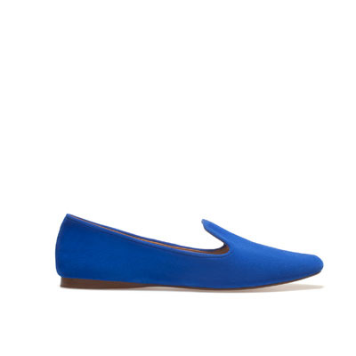 Soft Slipper - predominant colour: royal blue; occasions: casual, work; material: suede; heel height: flat; toe: round toe; style: loafers; finish: plain; pattern: plain; season: s/s 2013