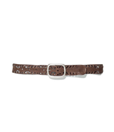 Soft Cut Work Leather Belt - predominant colour: chocolate brown; occasions: casual, work; type of pattern: small; style: classic; size: standard; worn on: hips; material: leather; pattern: plain; finish: plain; season: s/s 2013
