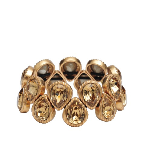 Golden Drop S Bracelet - predominant colour: gold; occasions: casual, evening, holiday; style: bangle/standard; size: standard; material: chain/metal; finish: metallic; embellishment: crystals/glass; season: s/s 2013