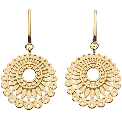 Chantilly Drop Earrings, Gold - predominant colour: gold; occasions: casual, evening, holiday; style: drop; length: mid; size: standard; material: chain/metal; fastening: pierced; finish: metallic; season: s/s 2013