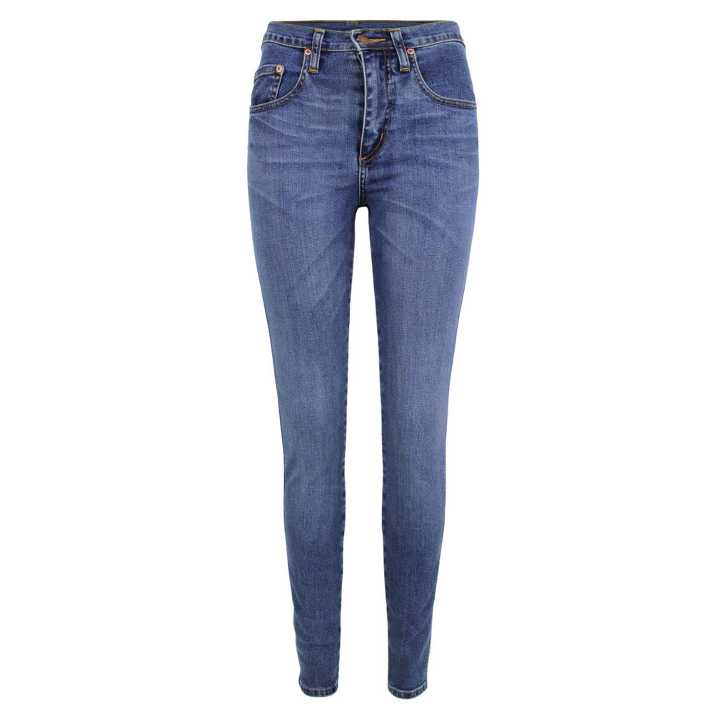 Cult Livid Blue Skinny Jeans - style: skinny leg; length: standard; pattern: plain; waist: high rise; pocket detail: traditional 5 pocket; predominant colour: denim; occasions: casual, evening; fibres: cotton - stretch; jeans detail: whiskering, washed/faded; texture group: denim; pattern type: fabric; season: s/s 2013