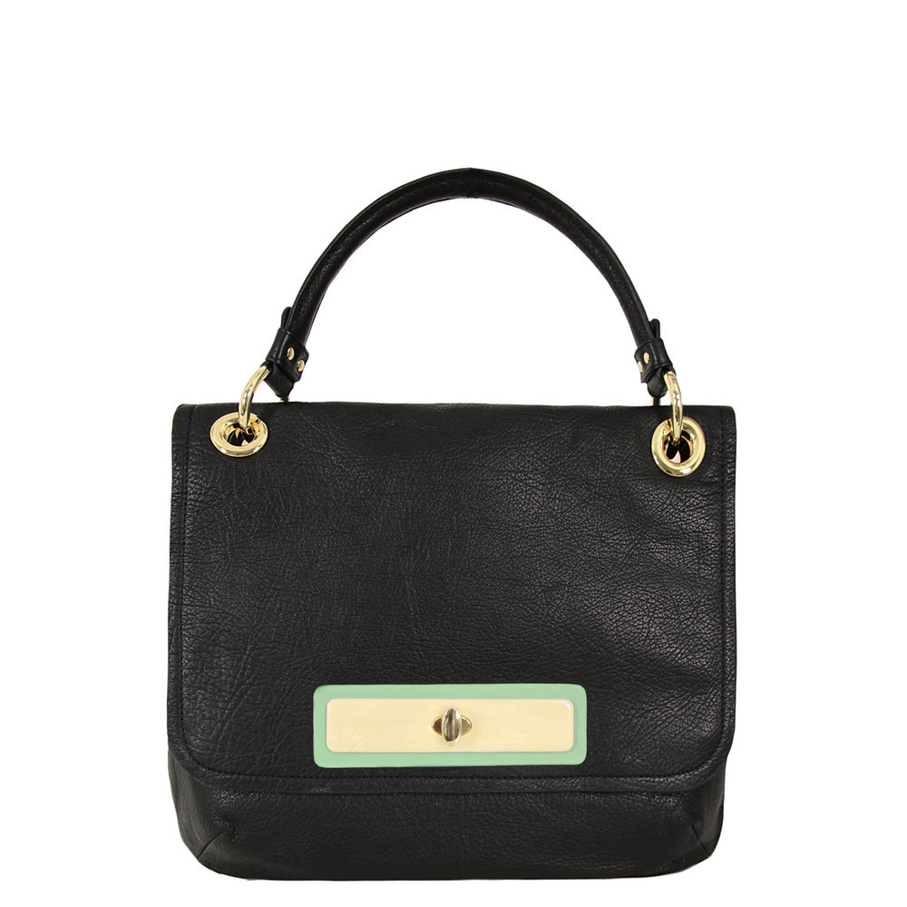 Ssh025 Soft Ebony Sheepskin Leather Bag - secondary colour: gold; predominant colour: black; occasions: casual, creative work; type of pattern: standard; style: shoulder; length: shoulder (tucks under arm); size: standard; material: leather; pattern: plain; finish: plain; season: s/s 2013