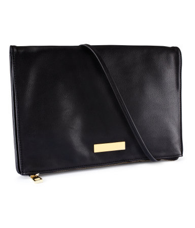 Shoulder Bag - predominant colour: black; occasions: casual, evening, work, occasion; style: satchel; length: shoulder (tucks under arm); size: standard; material: faux leather; embellishment: studs; pattern: plain; finish: plain; season: s/s 2013