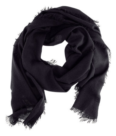 Cashmere Scarf - predominant colour: black; occasions: casual, evening, work, occasion; type of pattern: standard; style: regular; size: standard; material: knits; pattern: plain; season: s/s 2013