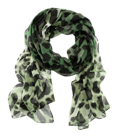 Scarf - occasions: casual, evening, work; predominant colour: multicoloured; type of pattern: standard; style: regular; size: standard; material: fabric; pattern: animal print; season: s/s 2013; multicoloured: multicoloured