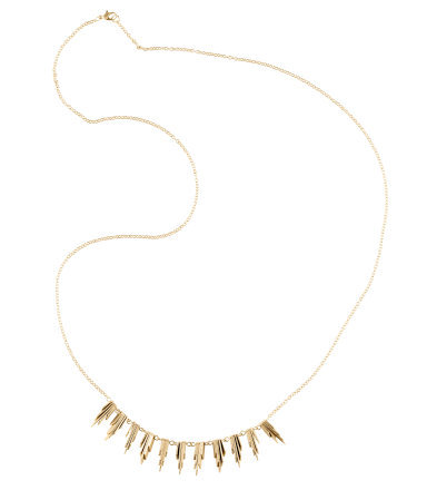 Necklace - predominant colour: gold; occasions: evening, work, occasion, holiday; length: mid; size: small/fine; material: chain/metal; finish: plain; embellishment: chain/metal; season: s/s 2013; style: chain (no pendant)